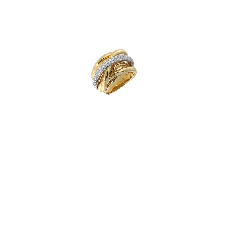 Roberto Coin 18KT GOLD DIAMOND TWIST RING