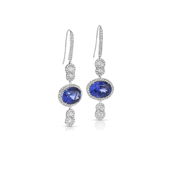 Cento Drop Tanzanite Earrings