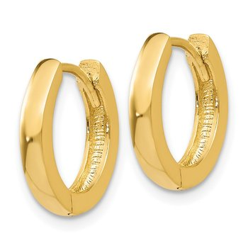 14k Round Hinged Hoop Earrings
