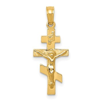 14k Eastern Orthodox Crucifix Charm
