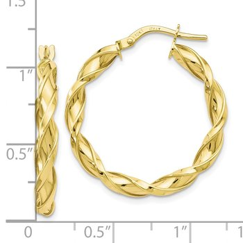 Leslie's 10K Polished Twisted Hoop Earrings
