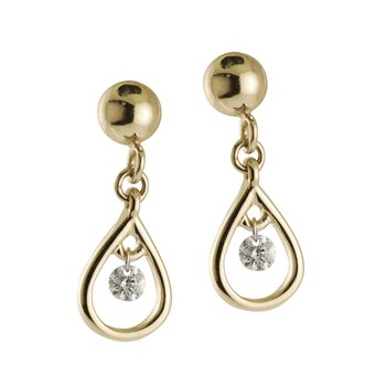 14K Yellow Gold .10 ct Diamond Dashing Diamonds Earrings