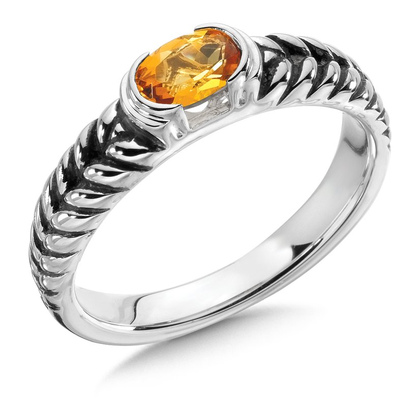 Colore Sg Citrine & Sterling Silver Ring