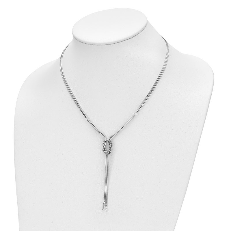 Leslie's Leslie's Sterling Silver Polished Fancy Knot w/2in ext. Necklace