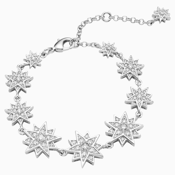 Penélope Cruz Moonsun Bracelet, Limited Edition, White, Rhodium plated