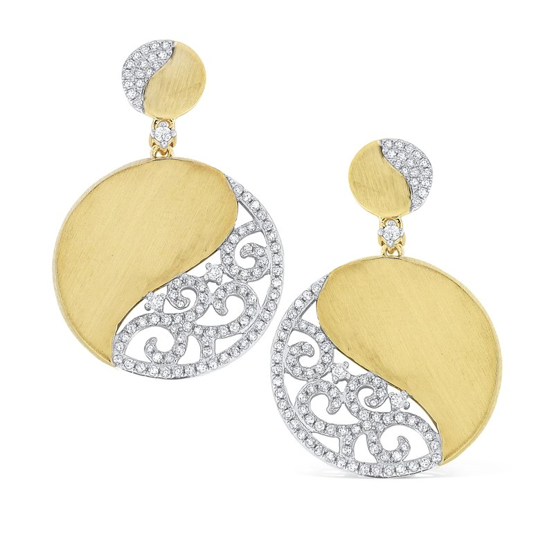 KC Designs 14K Diamond Swirl Circle Earrings