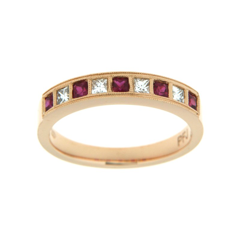 Paragon Fine Jewellery 18k Rose Gold Ring with Ruby & Diamond