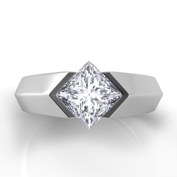Voltaggio Knife Edge Princess-Cut Engagement Ring