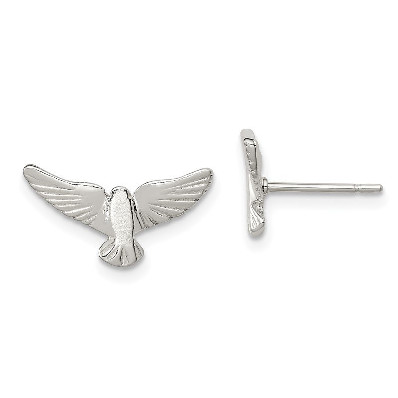 Quality Gold Sterling Silver Bird Mini Earrings