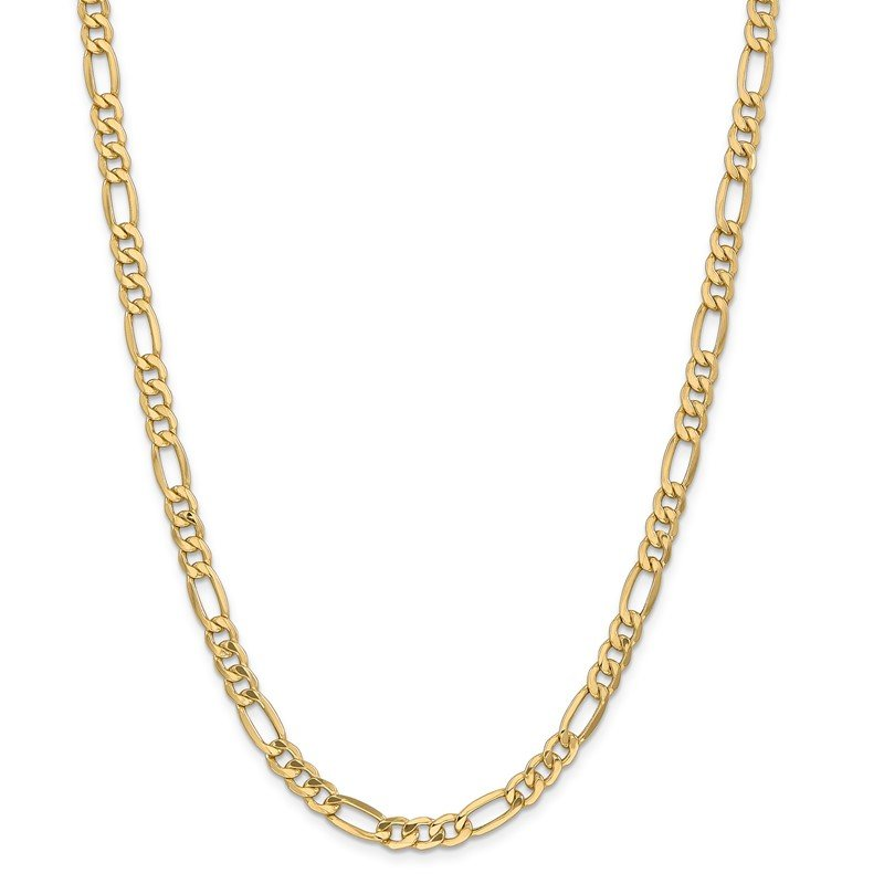 Quality Gold 14k 6.25mm Semi-Solid Figaro Chain