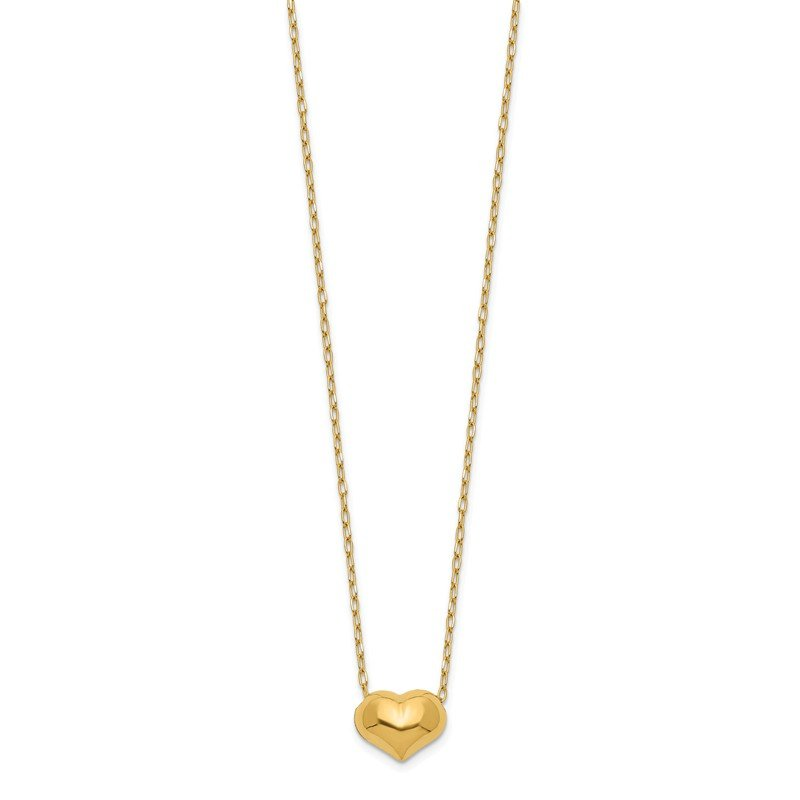 Quality Gold 14k Madi K Small Hollow Heart w/ Chain Necklace