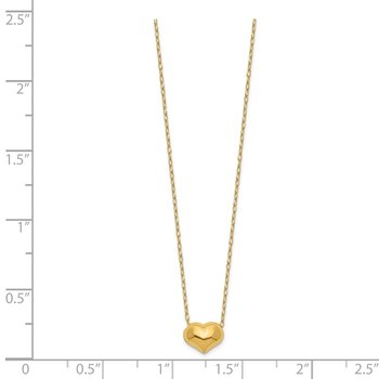 14k Madi K Small Hollow Heart w/ Chain Necklace