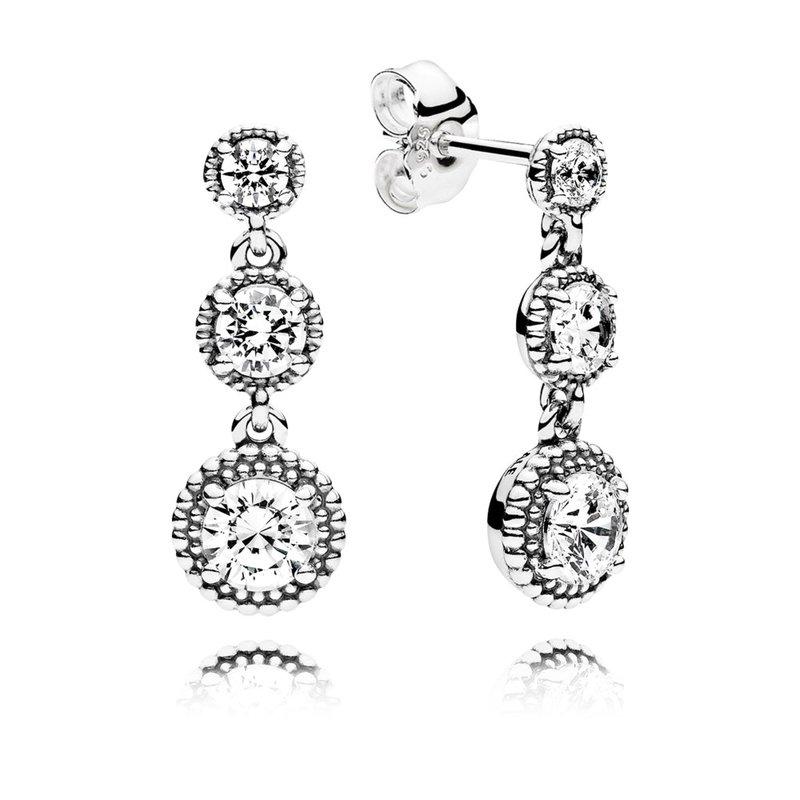 710cfc5f7 Duncan Fine Jewelry: PANDORA Eternal Elegance Drop Earrings, Clear Cz