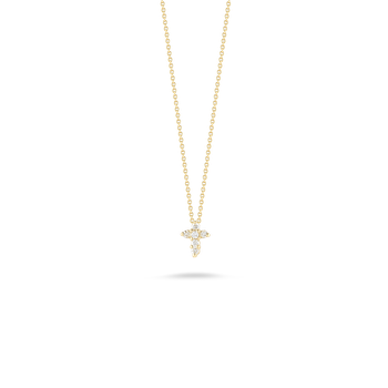 Baby Cross Pendant With Diamonds &Ndash; 18K Yellow Gold