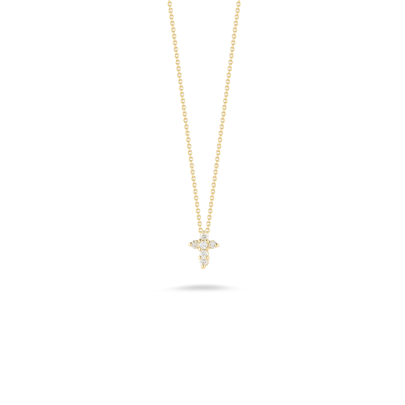 Roberto Coin Baby Cross Pendant With Diamonds &Ndash; 18K Yellow Gold
