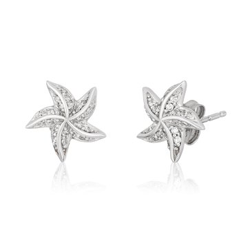 Sterling Silver 1/5CTW Ariel Starfish Earring