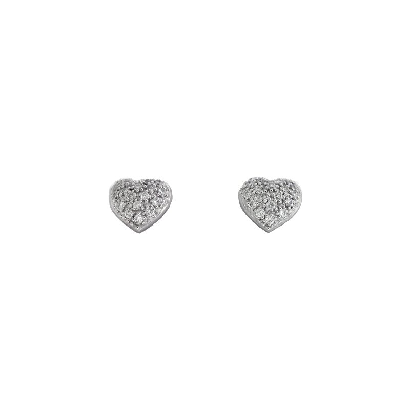 Briana White Gold Heart Earring