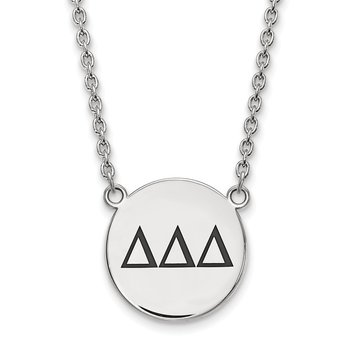 Sterling Silver Delta Delta Delta Greek Life Necklace