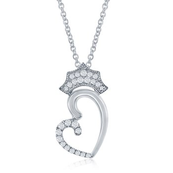 WS - The Queen of Hearts Crown Necklace