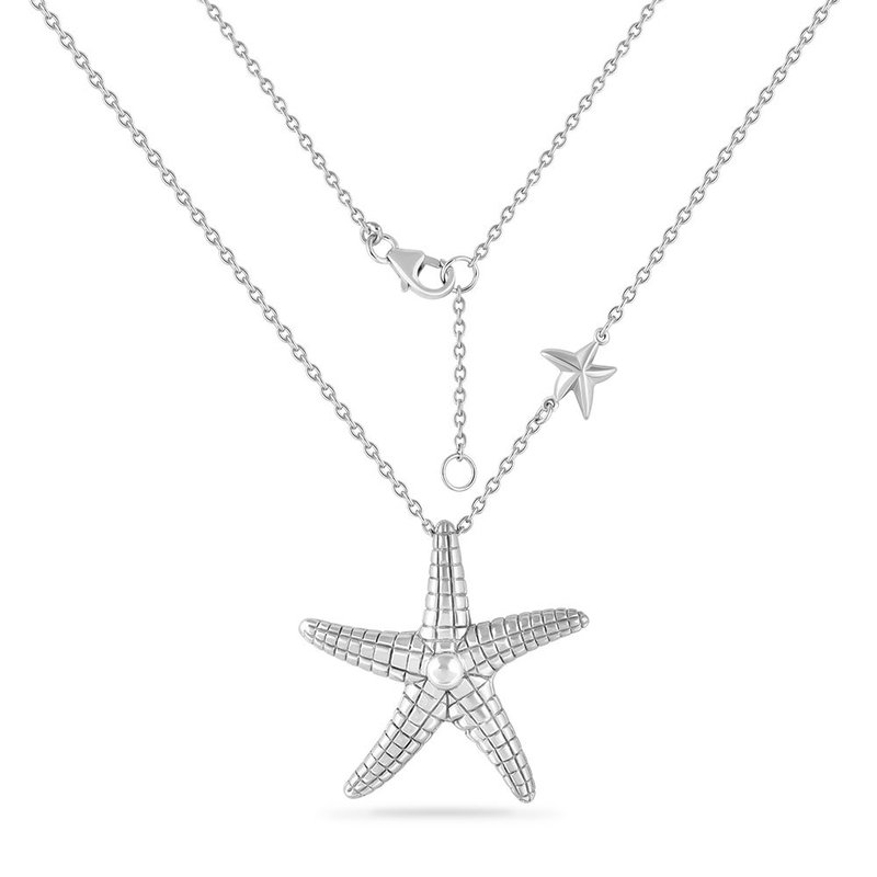Shula NY sterling silver starfish with criss cross detail 18""