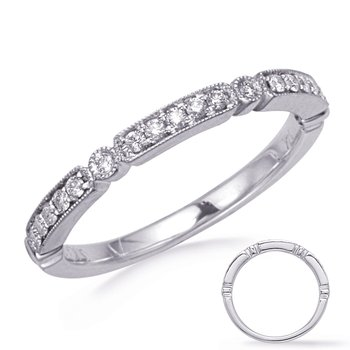 White Gold Stackable Band