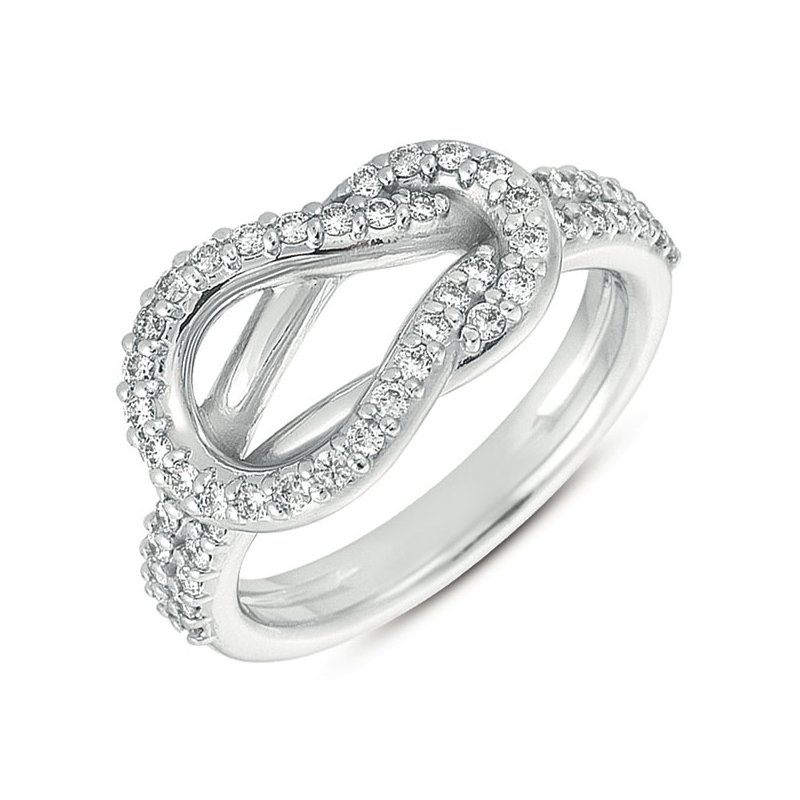 S. Kashi  & Sons White Gold Love Knot Ring