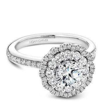 Noam Carver Floral Engagement Ring B141-16A