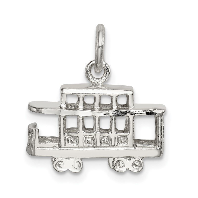 Quality Gold Sterling Silver Caboose Charm