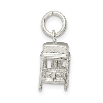 Sterling Silver Caboose Charm