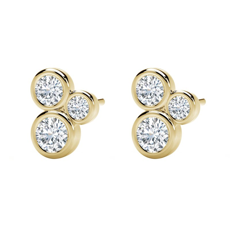 Forevermark The Forevermark Tribute™ Collection Three Stone Bezel Studs