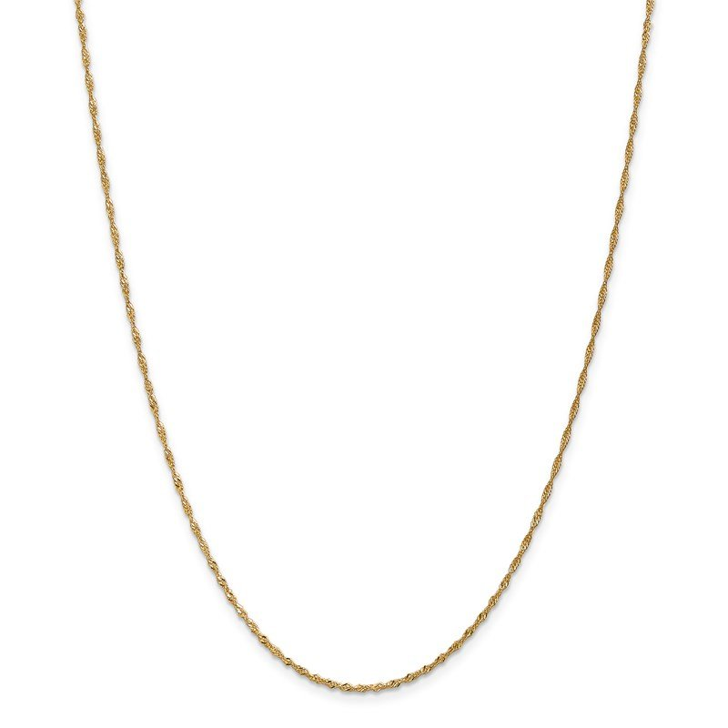 Leslie's Leslie's 14K 1.3mm Singapore Chain