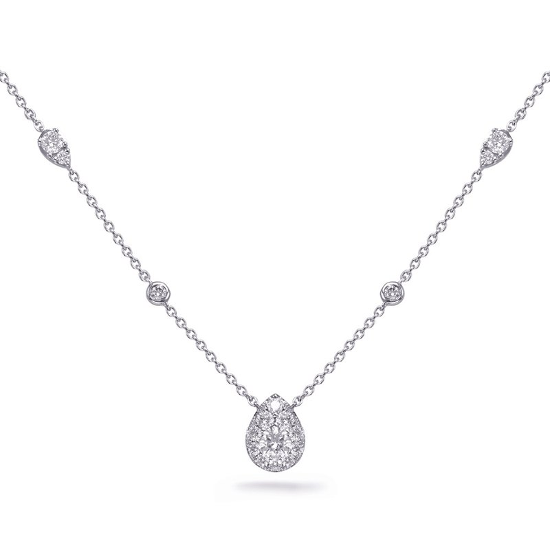 S. Kashi  & Sons White Gold Diamond Necklance