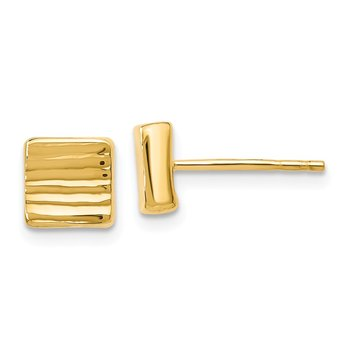 Leslie's 14K Gold Post Earrings