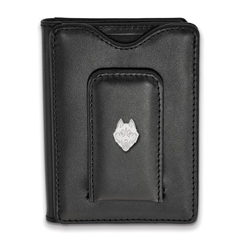 Sterling Silver University of Connecticut NCAA Wallet