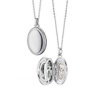 The Four Image White Sapphire Locket