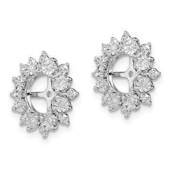Sterling Silver Rhodium Diam. Earring Jacket