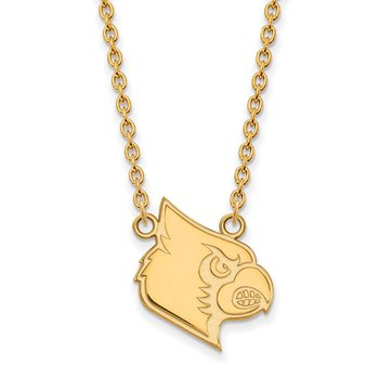 Gold-Plated Sterling Silver University of Louisville NCAA Necklace