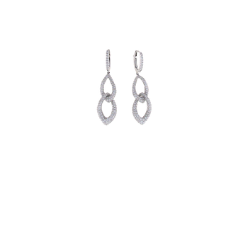 18KT WHITE GOLD DIAMOND DROP EARRIGNS