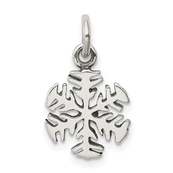 Sterling Silver Antique Snowflake Charm