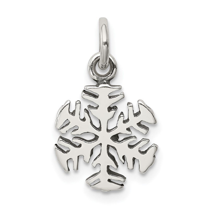 Quality Gold Sterling Silver Antique Snowflake Charm