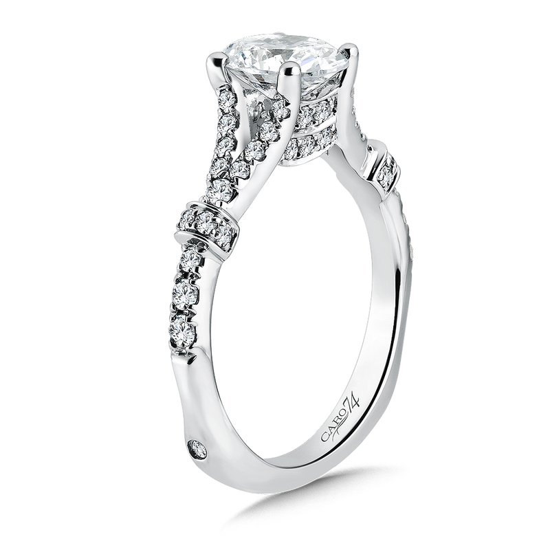 Sterling Jewelers Caro74 Oval Center Split Shank Engagement Ring in 14K Whit