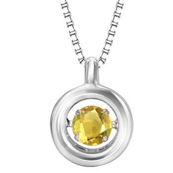 Silver Citrine Rhythm Of Love Pendant