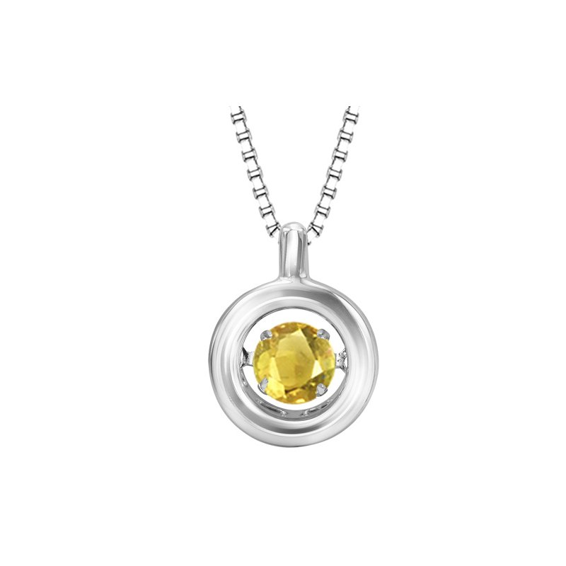 Rhythm of Love Silver Citrine Rhythm Of Love Pendant
