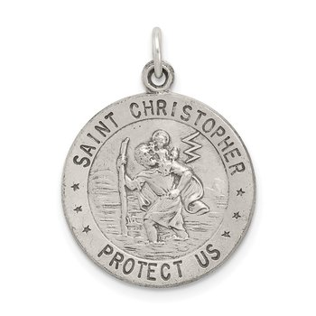 Sterling Silver St. Christopher Basketball Medal