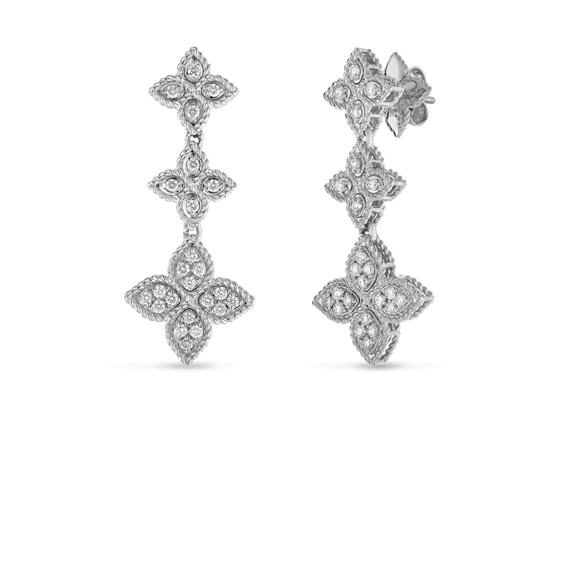 Roberto Coin 18KT GOLD 3 DROP EARRING WITH DIAMONDS