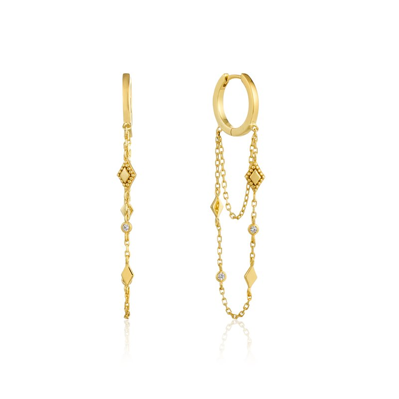 Ania Haie Bohemia Chain Drop Mini Hoops