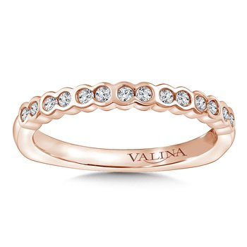 Stackable Wedding Band in 14K Rose Gold (.19 ct. tw.)