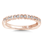 Valina Stackable Wedding Band in 14K Rose Gold (.19 ct. tw.)