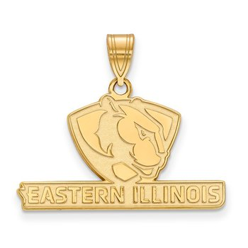 Gold-Plated Sterling Silver Eastern Illinois University NCAA Pendant