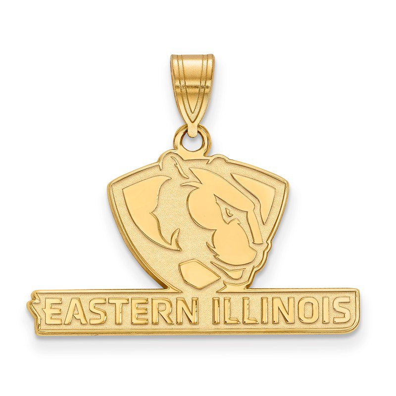 NCAA Gold-Plated Sterling Silver Eastern Illinois University NCAA Pendant